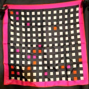 1970's silk Vera Neumann color block scarf